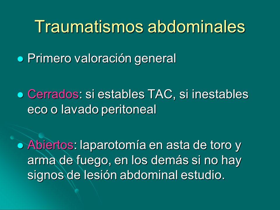 Traumatismos abdominales