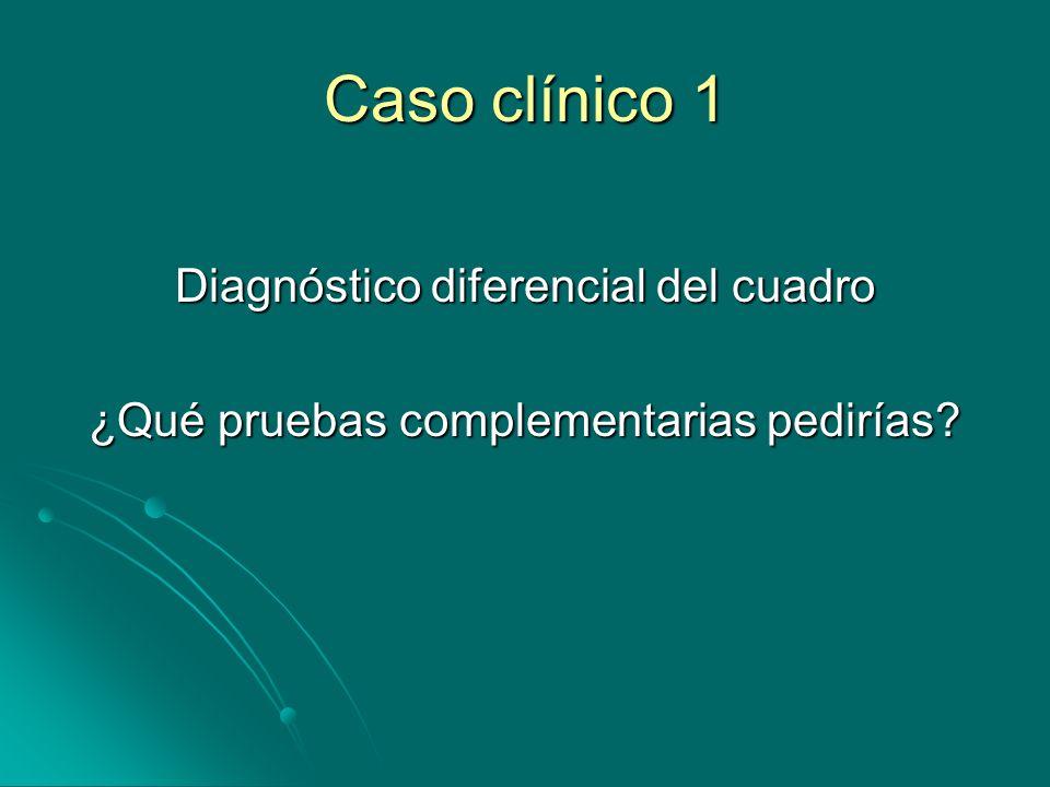 Caso clínico 1 Diagnóstico diferencial del cuadro