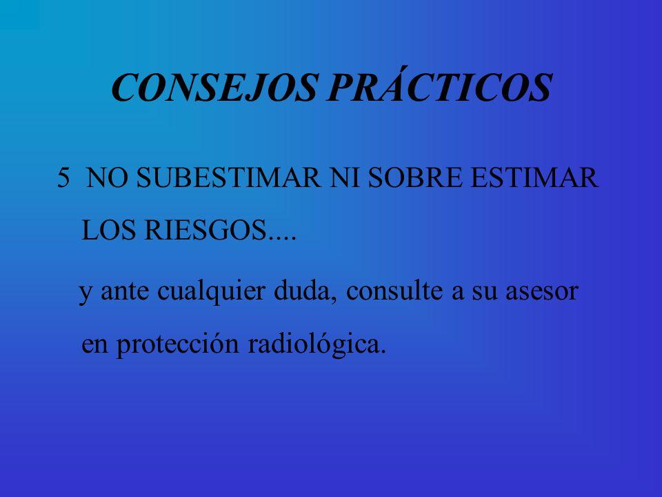 CONSEJOS PRÁCTICOS 5 NO SUBESTIMAR NI SOBRE ESTIMAR LOS RIESGOS....