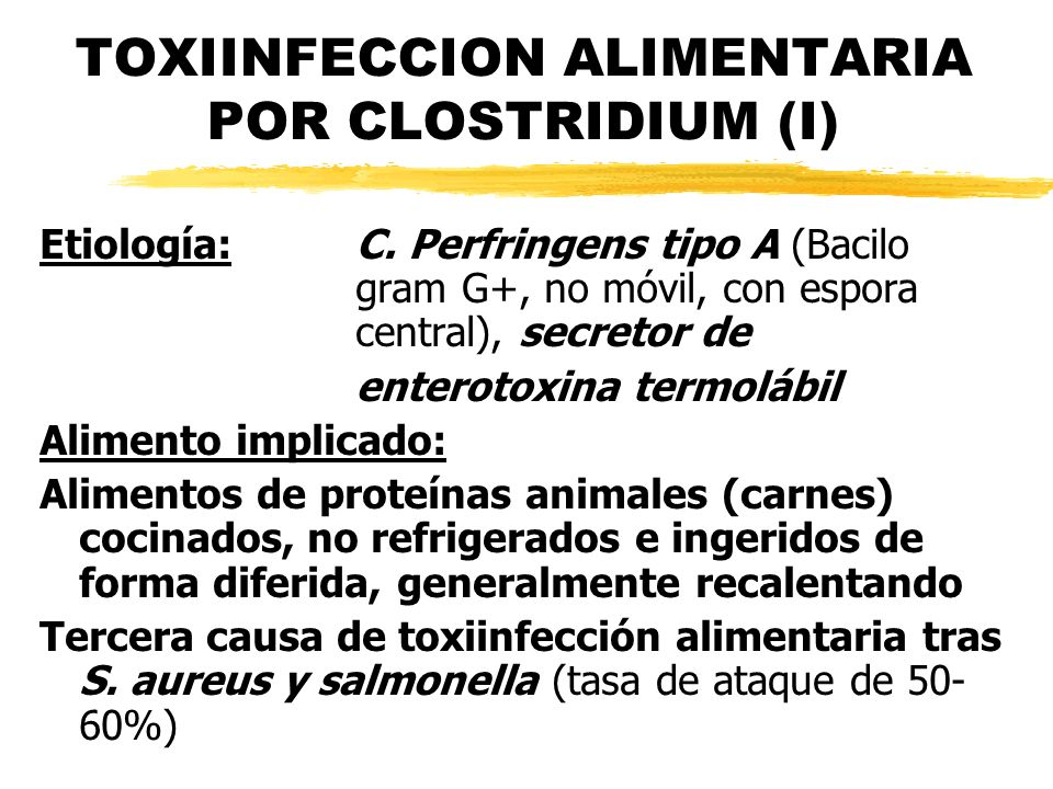TOXIINFECCION ALIMENTARIA POR CLOSTRIDIUM (I)