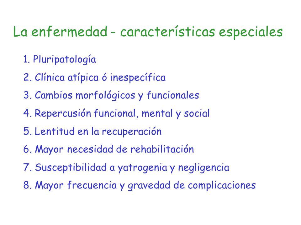 La enfermedad - características especiales