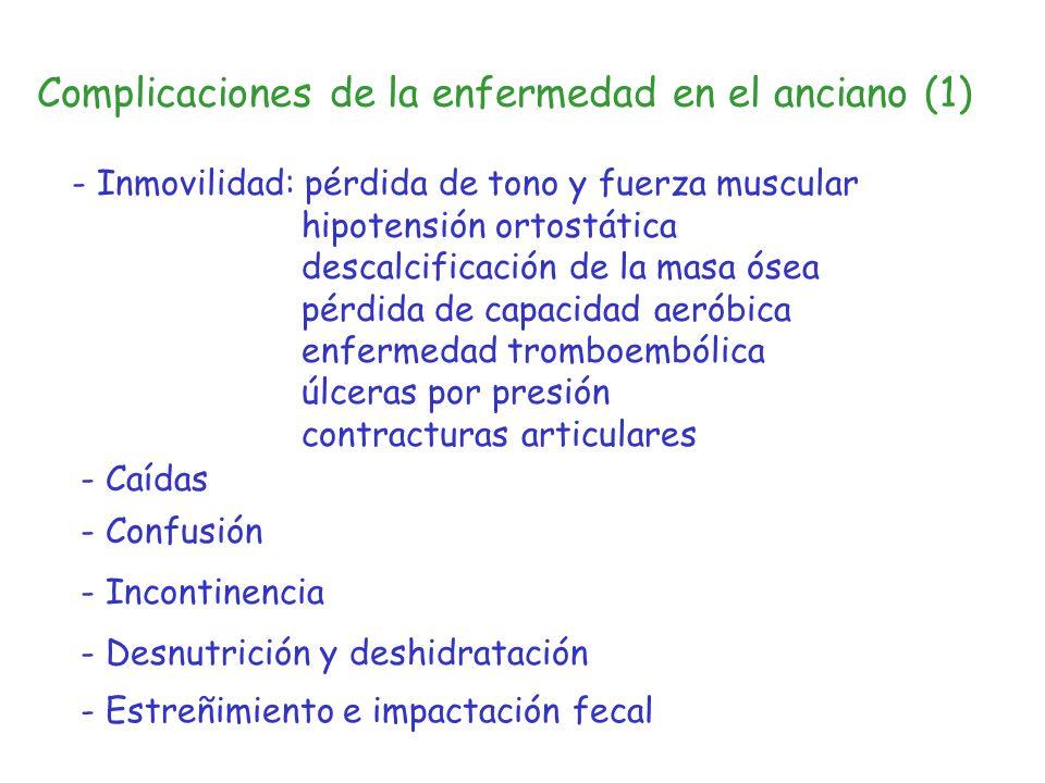 Complicaciones de la enfermedad en el anciano (1)