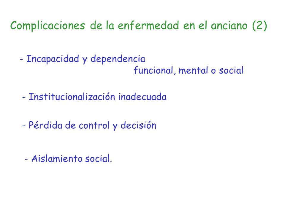 Complicaciones de la enfermedad en el anciano (2)
