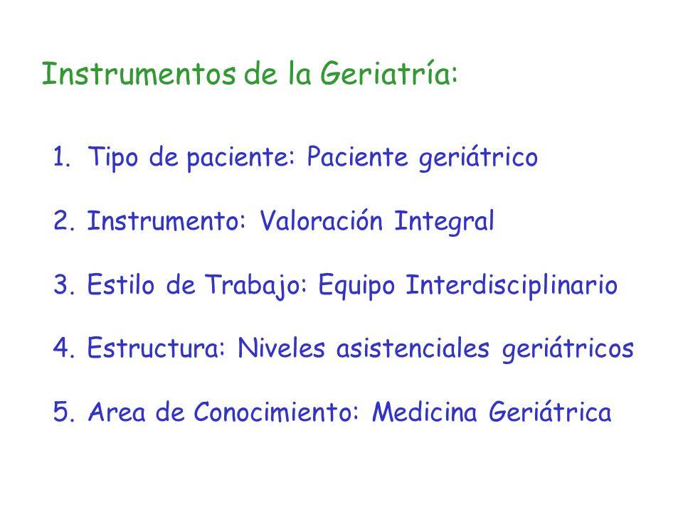 Instrumentos de la Geriatría:
