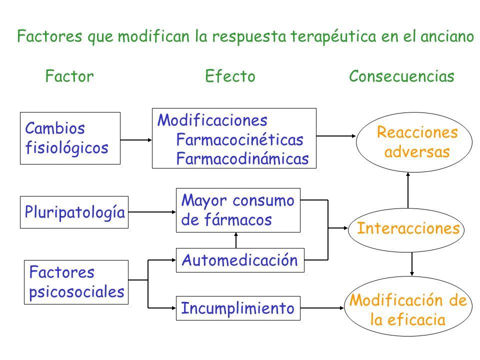 Factores que modifican la respuesta terapéutica en el anciano