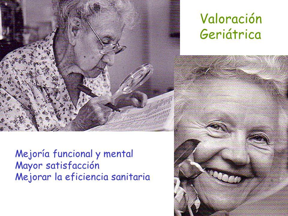 Valoración Geriátrica Mejoría funcional y mental Mayor satisfacción