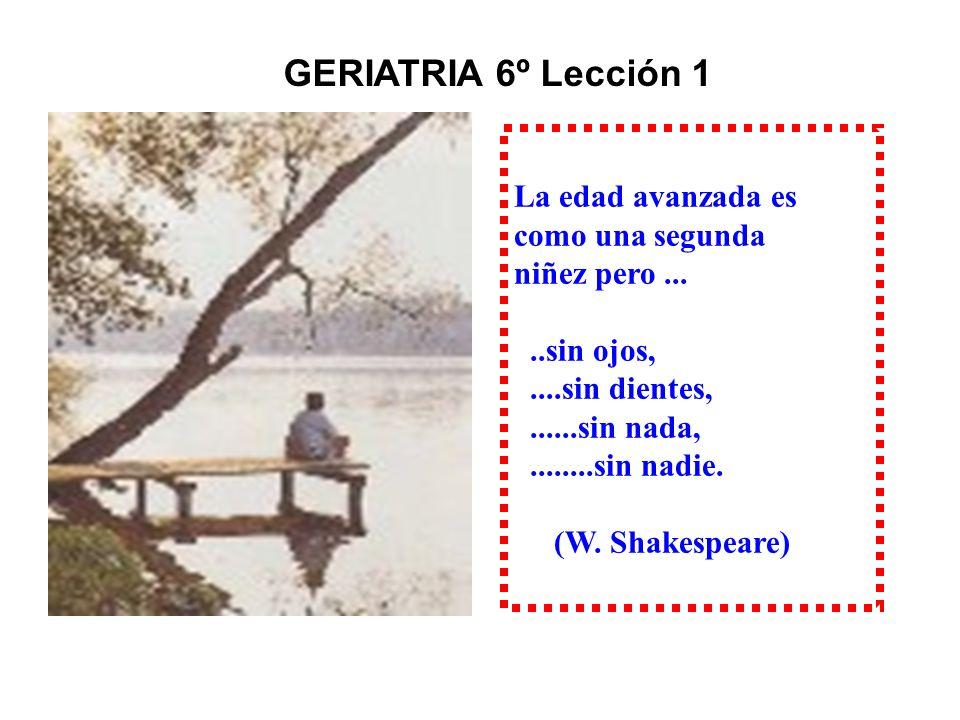 GERIA GERIATRIA 6º Lección 1º 1