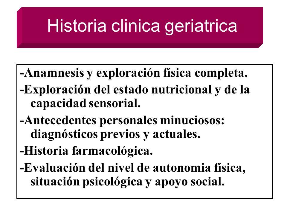 Historia clinica geriatrica