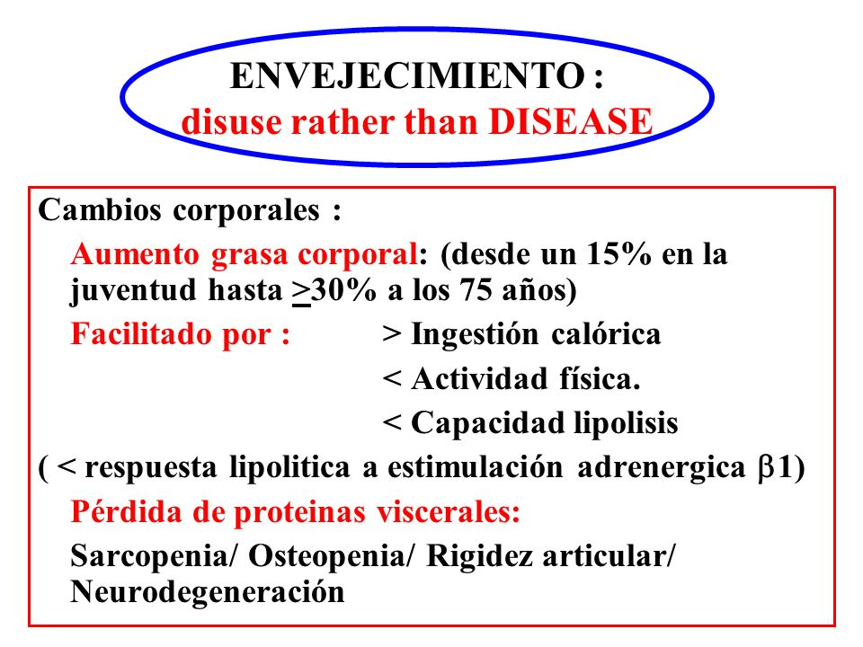 disuse rather than DISEASE