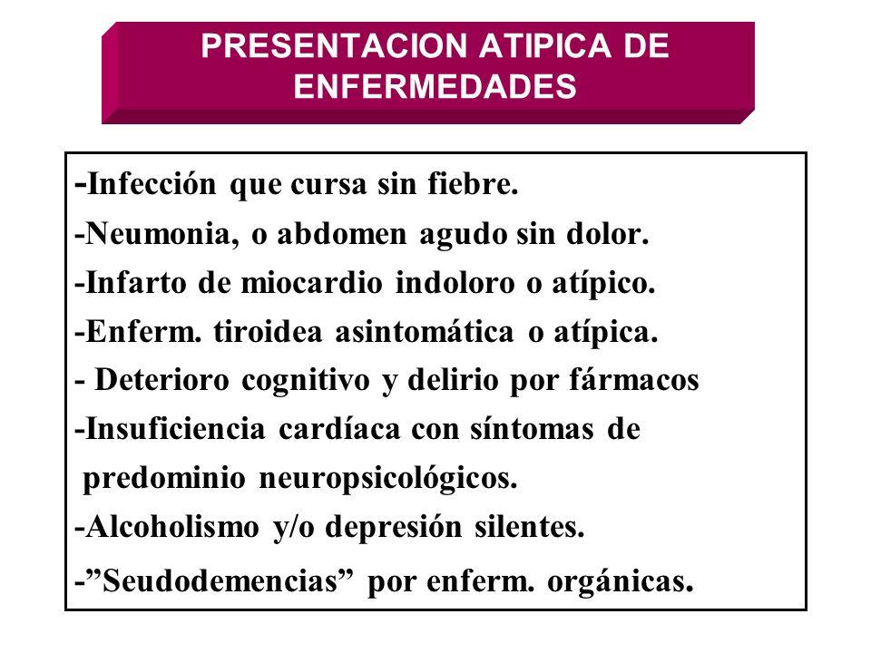 PRESENTACION ATIPICA DE ENFERMEDADES