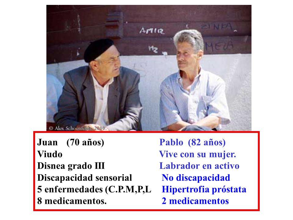 Juan (70 años) Pablo (82 años)