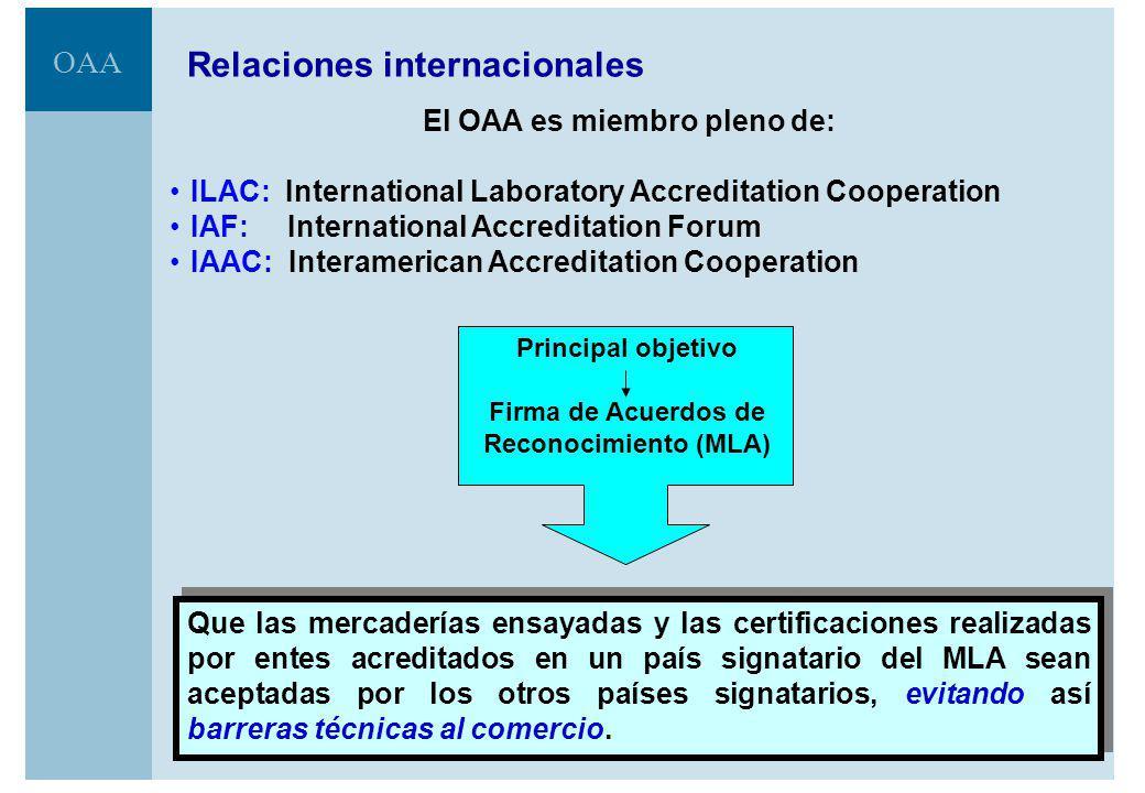 El OAA es miembro pleno de: