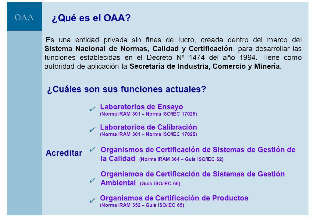 ¿Qué es el OAA ¿Cuáles son sus funciones actuales