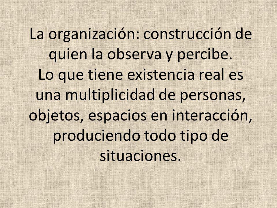 La organización: construcción de quien la observa y percibe