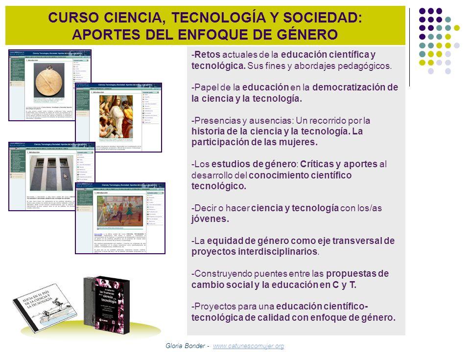 CURSO CIENCIA, TECNOLOGÍA Y SOCIEDAD: APORTES DEL ENFOQUE DE GÉNERO
