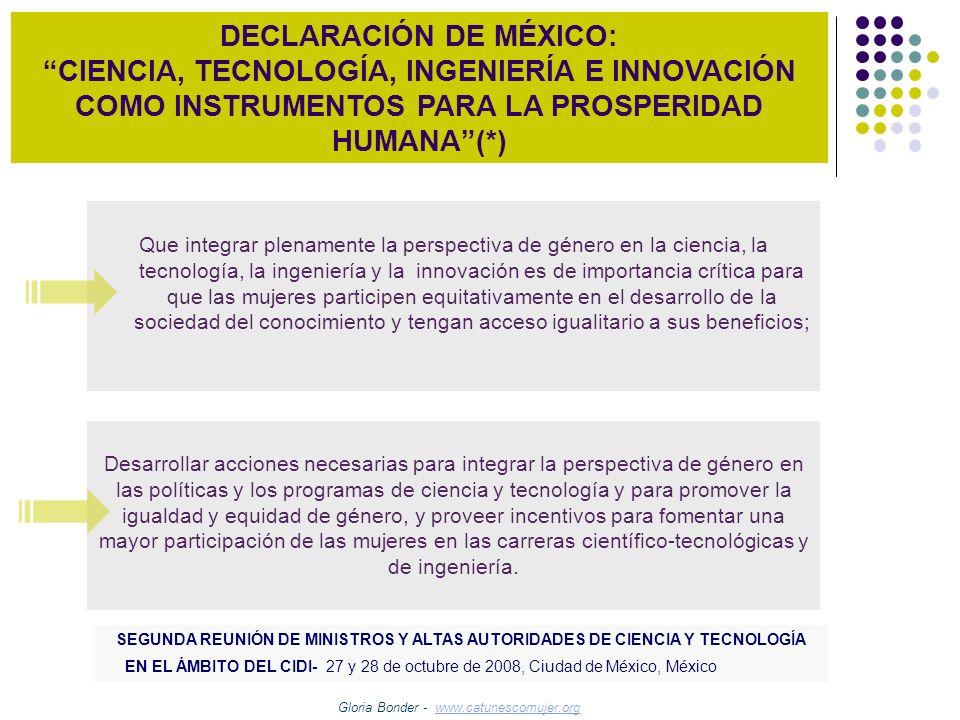DECLARACIÓN DE MÉXICO: CIENCIA, TECNOLOGÍA, INGENIERÍA E INNOVACIÓN