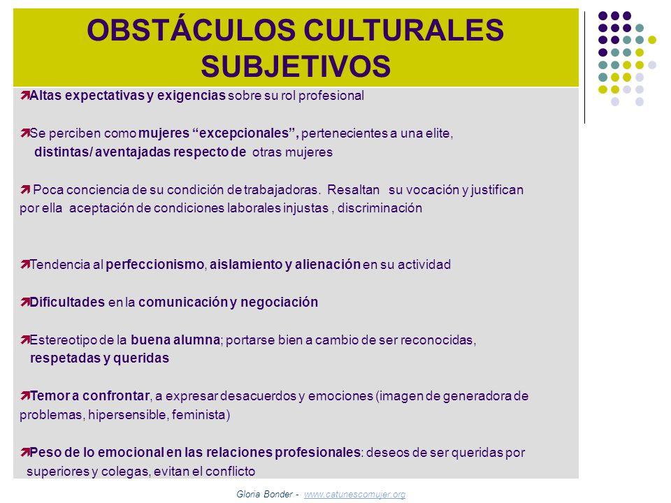OBSTÁCULOS CULTURALES SUBJETIVOS