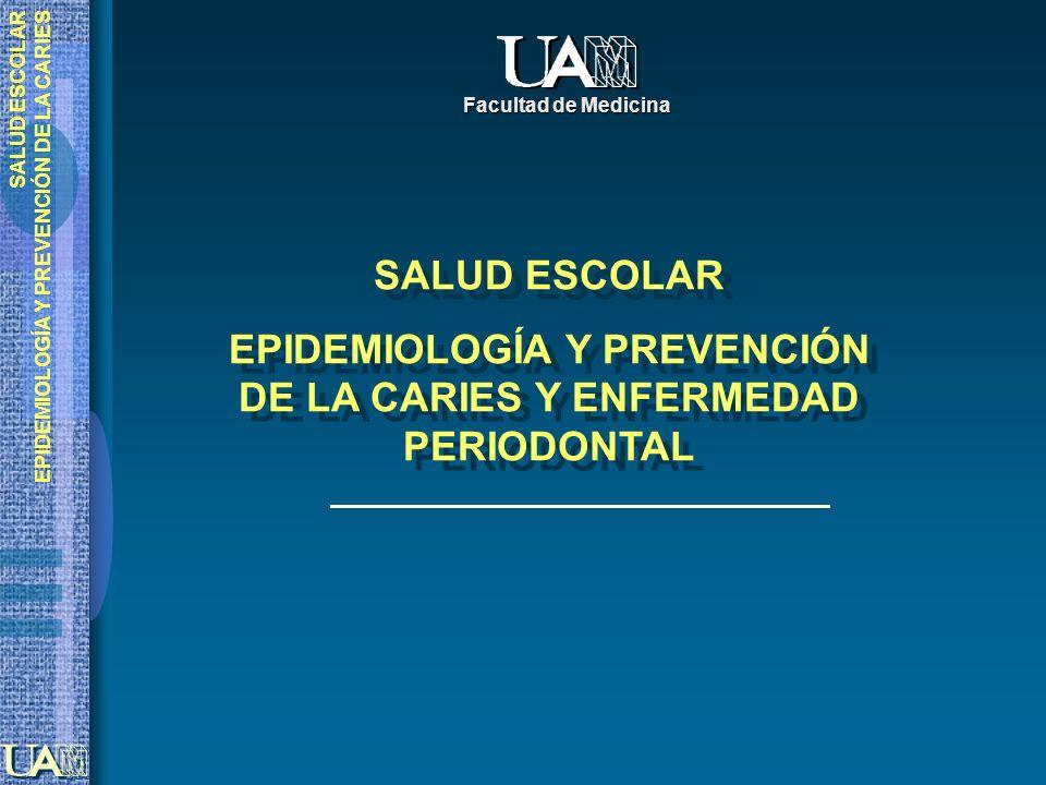 EPIDEMIOLOGÍA Y PREVENCIÓN DE LA CARIES Y ENFERMEDAD