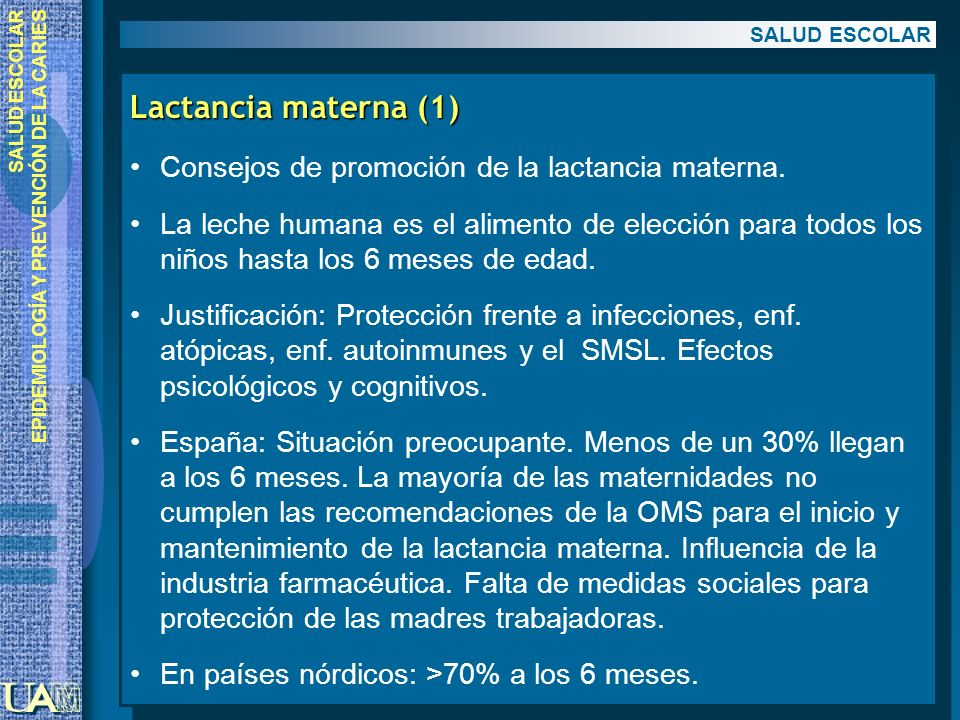 Lactancia materna (1) Consejos de promoción de la lactancia materna.