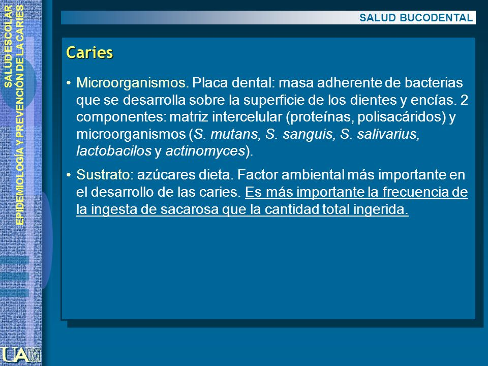 SALUD BUCODENTAL Caries.