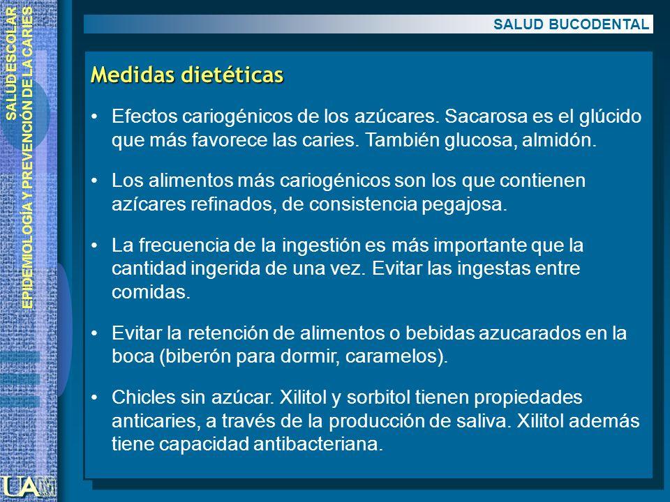 SALUD BUCODENTAL Medidas dietéticas.