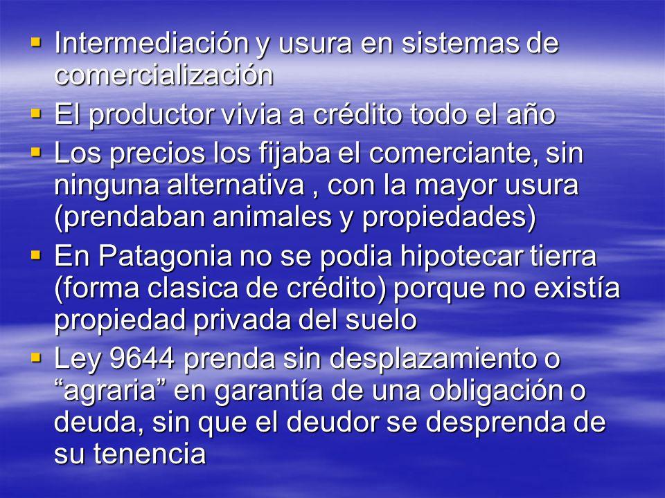 Intermediación y usura en sistemas de comercialización