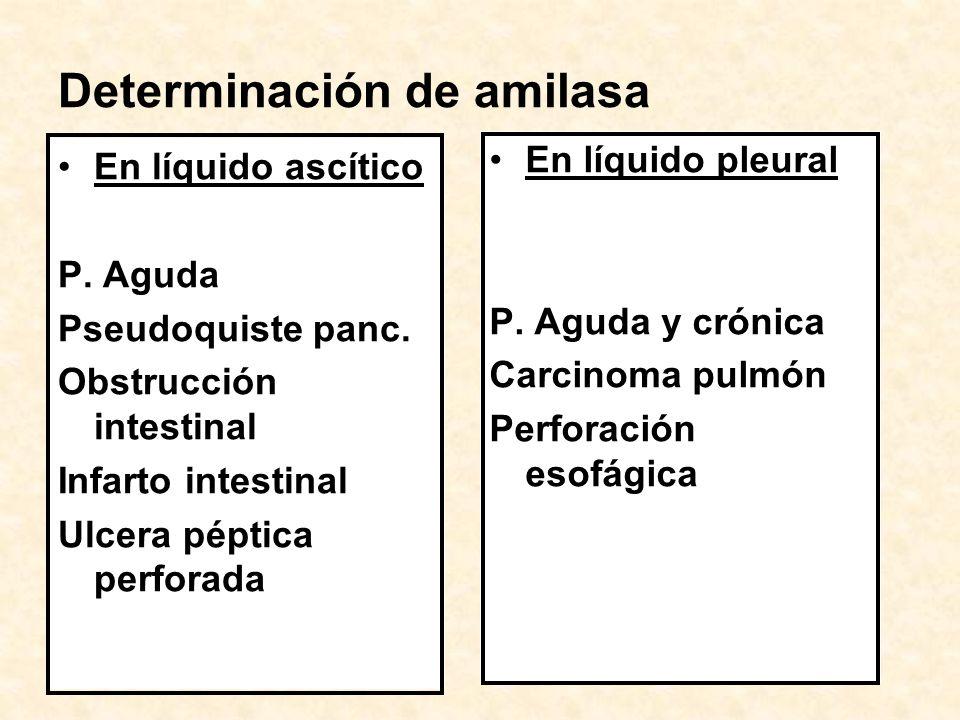 Determinación de amilasa