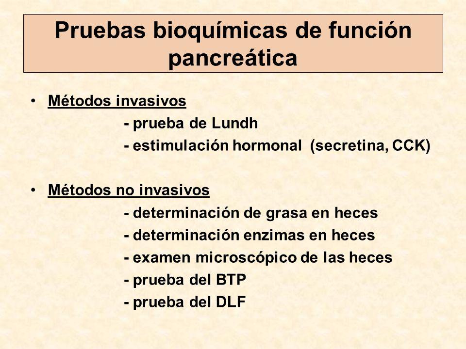 Pruebas bioquímicas de función pancreática
