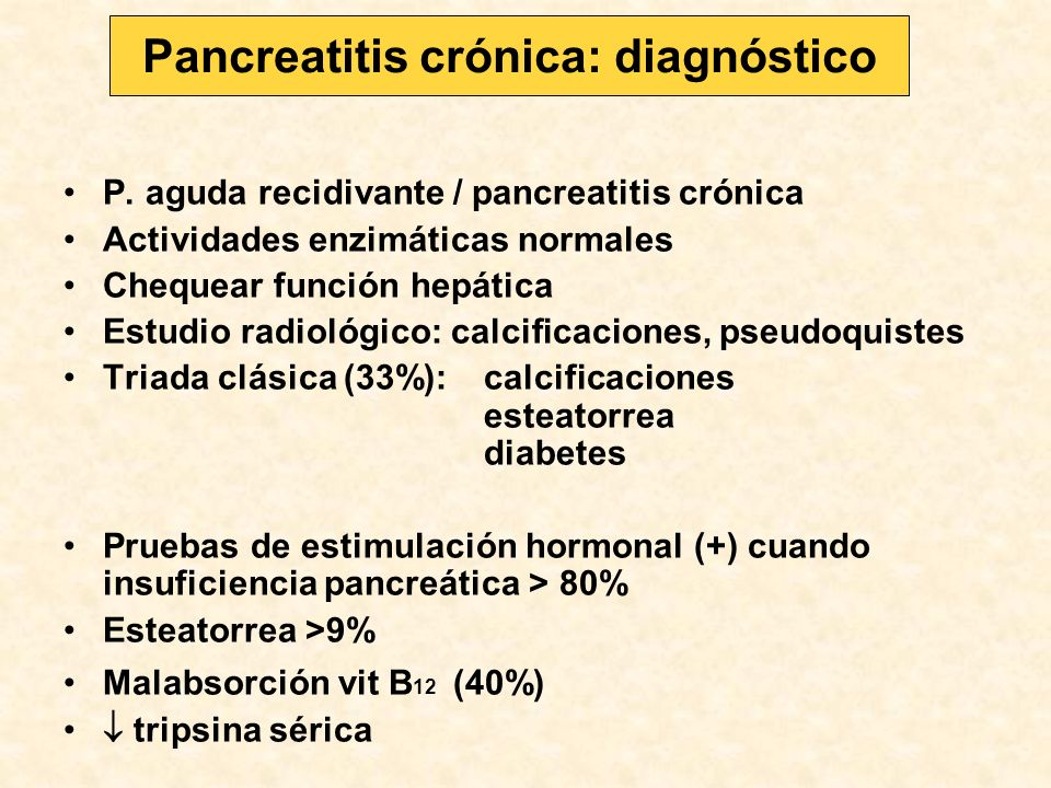 Pancreatitis crónica: diagnóstico