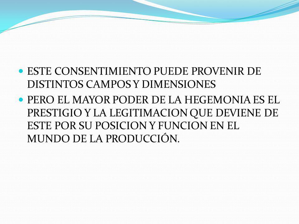 ESTE CONSENTIMIENTO PUEDE PROVENIR DE DISTINTOS CAMPOS Y DIMENSIONES