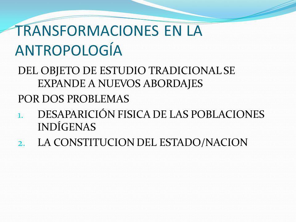 TRANSFORMACIONES EN LA ANTROPOLOGÍA