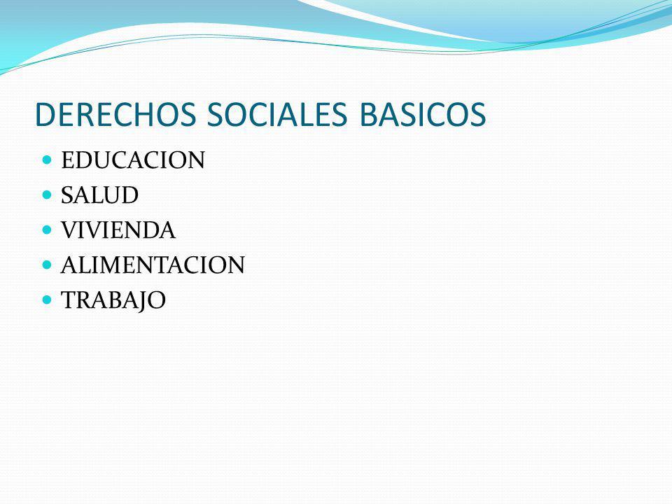 DERECHOS SOCIALES BASICOS