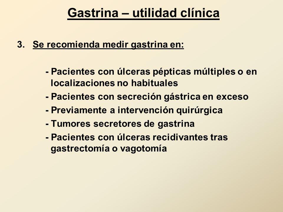 Gastrina – utilidad clínica