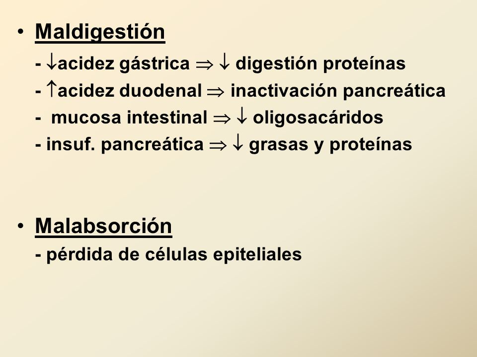- acidez gástrica   digestión proteínas