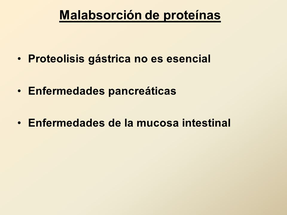 Malabsorción de proteínas