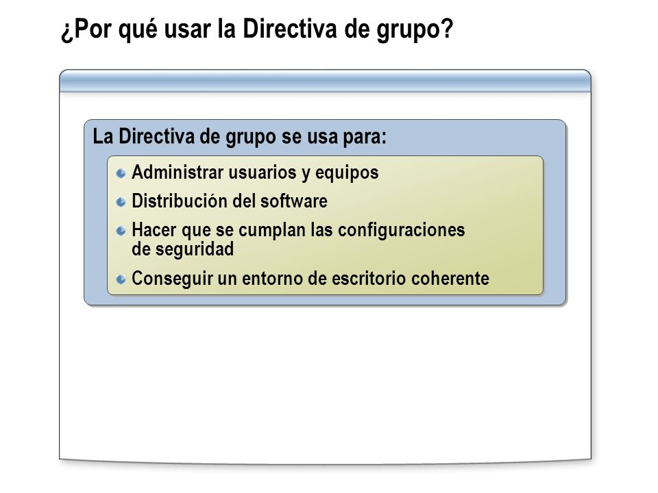 ¿Por qué usar la Directiva de grupo