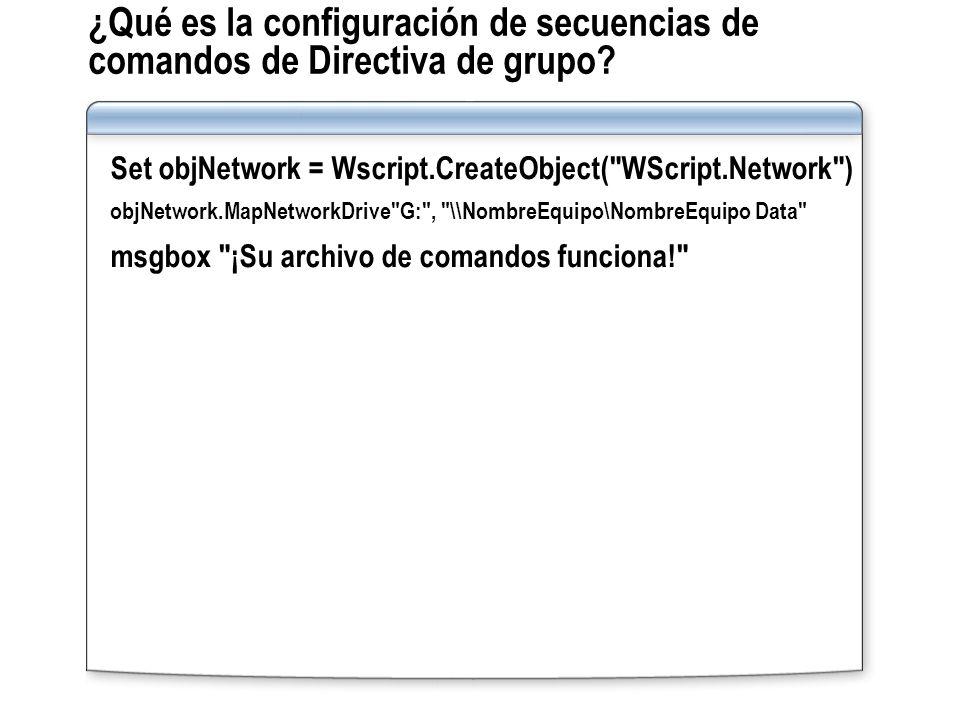 ¿Qué es la configuración de secuencias de comandos de Directiva de grupo