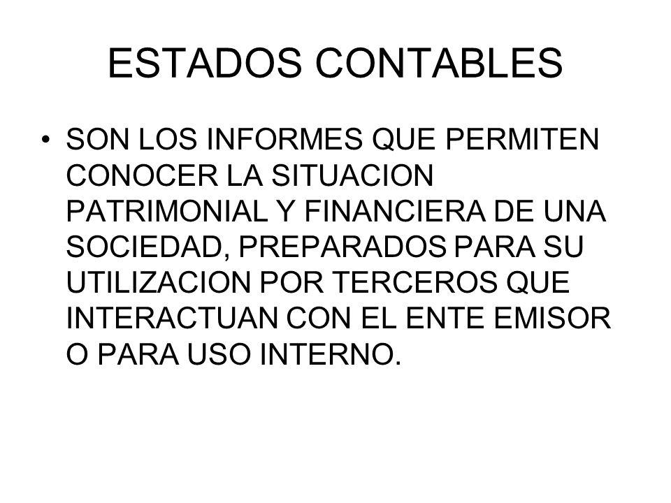 ESTADOS CONTABLES