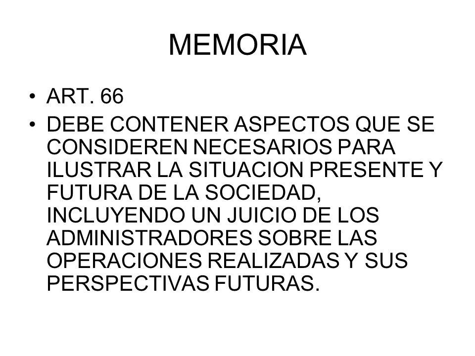 MEMORIA ART. 66.