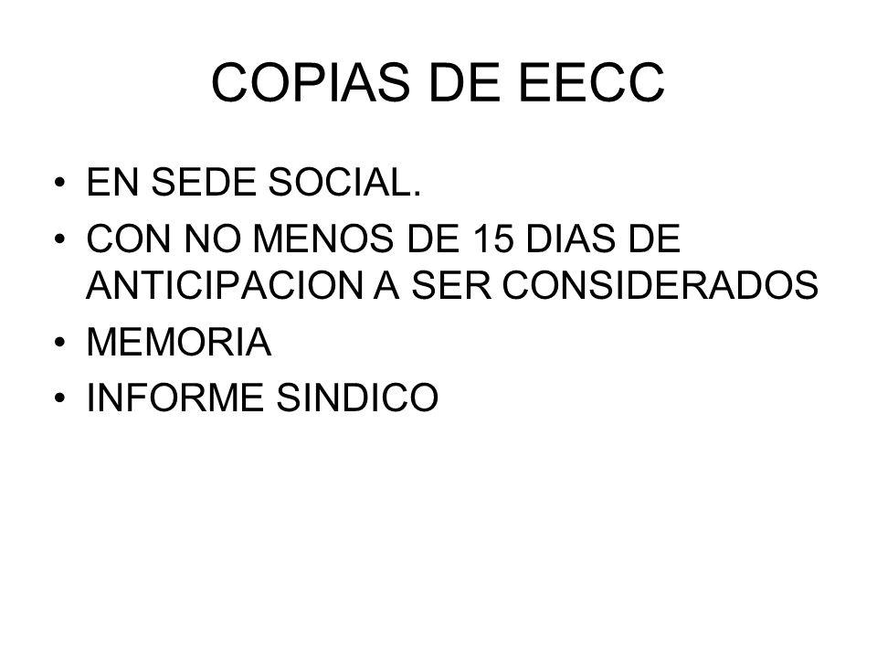 COPIAS DE EECC EN SEDE SOCIAL.