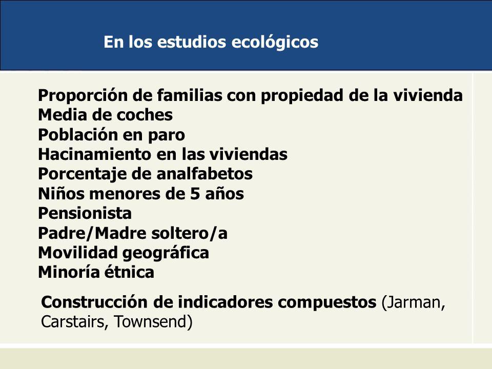 En los estudios ecológicos