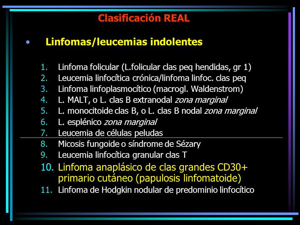 Linfomas/leucemias indolentes