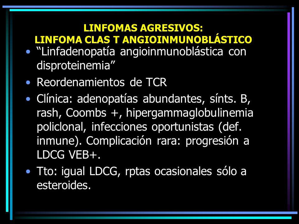 LINFOMAS AGRESIVOS: LINFOMA CLAS T ANGIOINMUNOBLÁSTICO