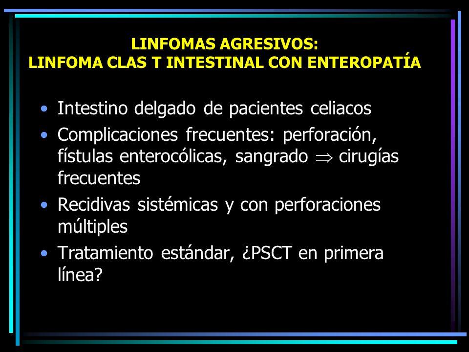 LINFOMAS AGRESIVOS: LINFOMA CLAS T INTESTINAL CON ENTEROPATÍA