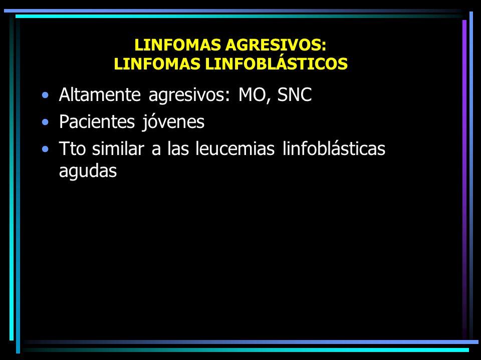 LINFOMAS AGRESIVOS: LINFOMAS LINFOBLÁSTICOS