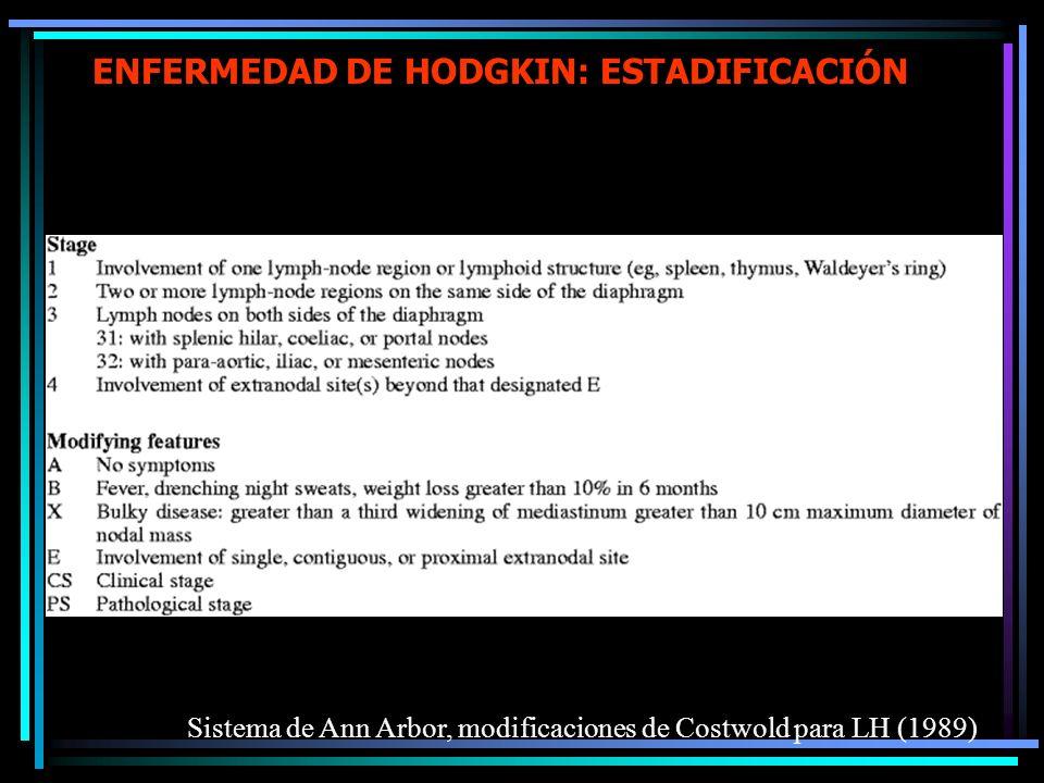 ENFERMEDAD DE HODGKIN: ESTADIFICACIÓN