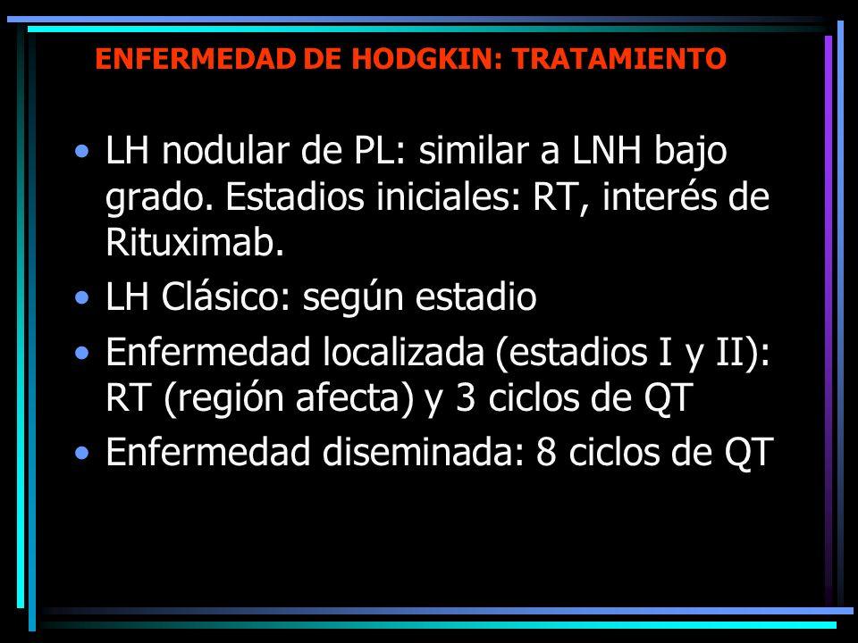 ENFERMEDAD DE HODGKIN: TRATAMIENTO