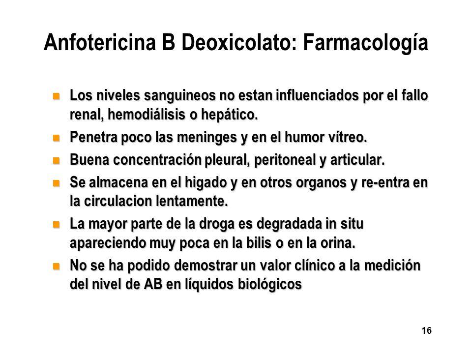 Anfotericina B Deoxicolato: Farmacología