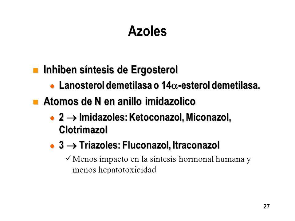 Azoles Inhiben síntesis de Ergosterol