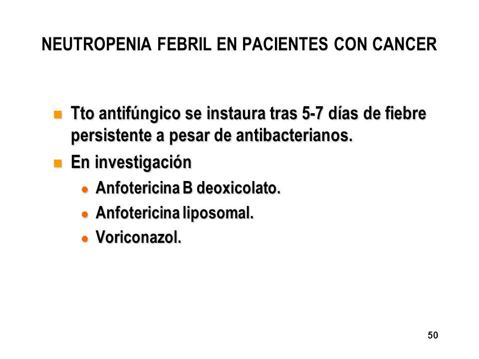 NEUTROPENIA FEBRIL EN PACIENTES CON CANCER